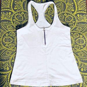 Lululemon • CRB in White zipper  tank
